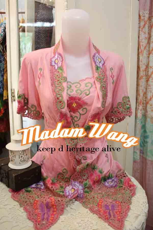 pink kebaya encim, indonesian kebaya