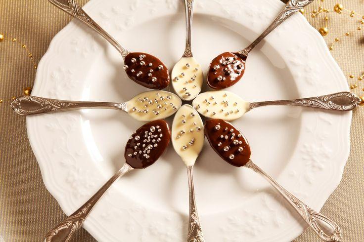 Cucchiai di Natale al cioccolato
