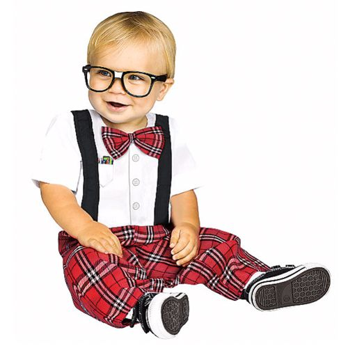 Baby Nerd Costume Baby genius! Your little nerd will be smiling ear to ear in this cozy jumpsuit. Shoes not included.
