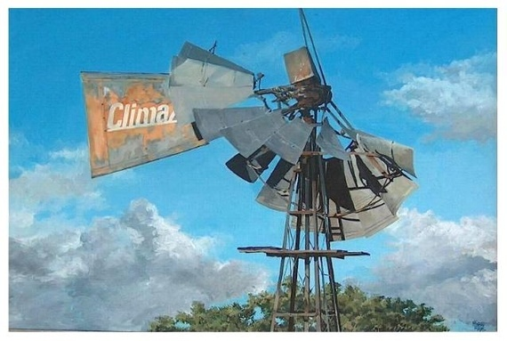 The old windmill - Acrylic | Mynderd Vosloo | Painters Online