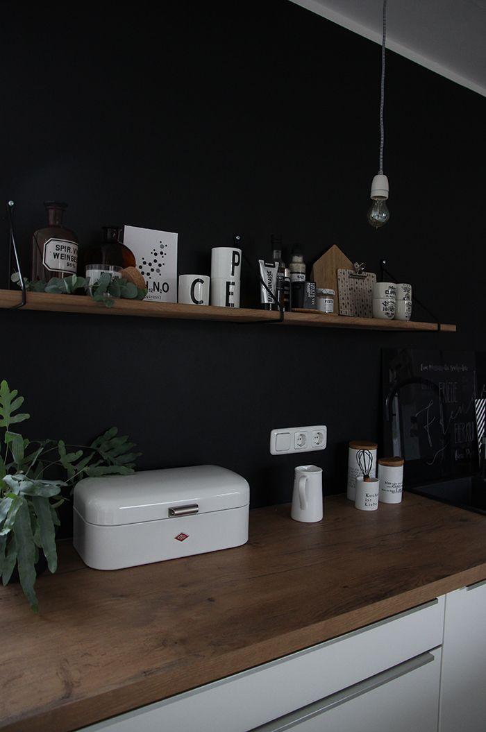 Eine schwarze Wand für die Küche