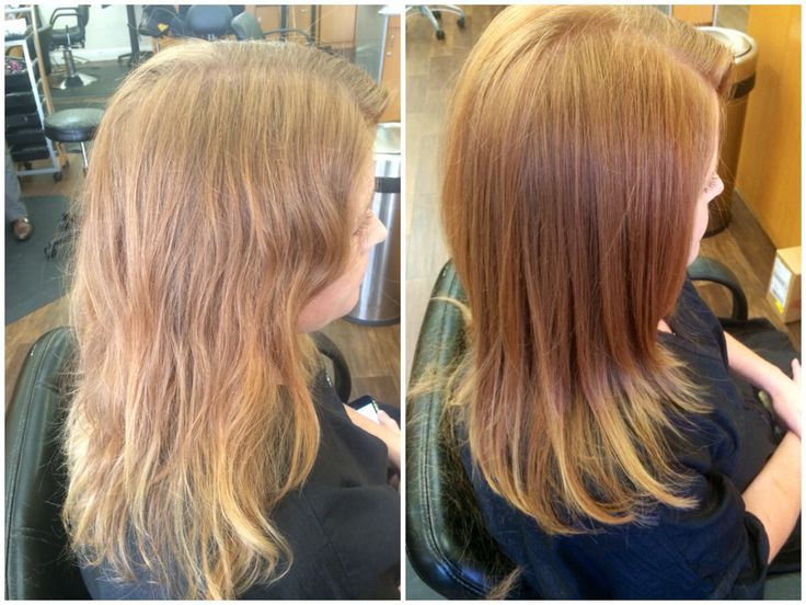 Before Left Faded And Dull Color After Right Refreshed Copper Tones Wi