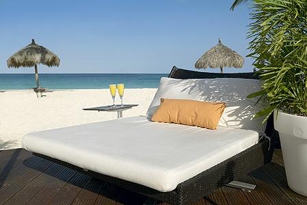 Beachside at the Bucuti in Aruba, our honeymoon hotel