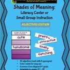 This activity is designed to have your students practice ordering ADJECTIVES by shade of meaning. There are 10 adjectives each having 5 synonyms. E...