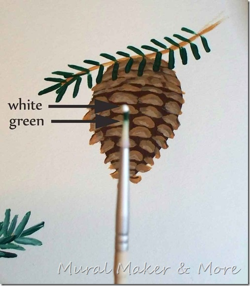 how to paint pinecones with @Alissa Evans Evans Huybers Crafts paint