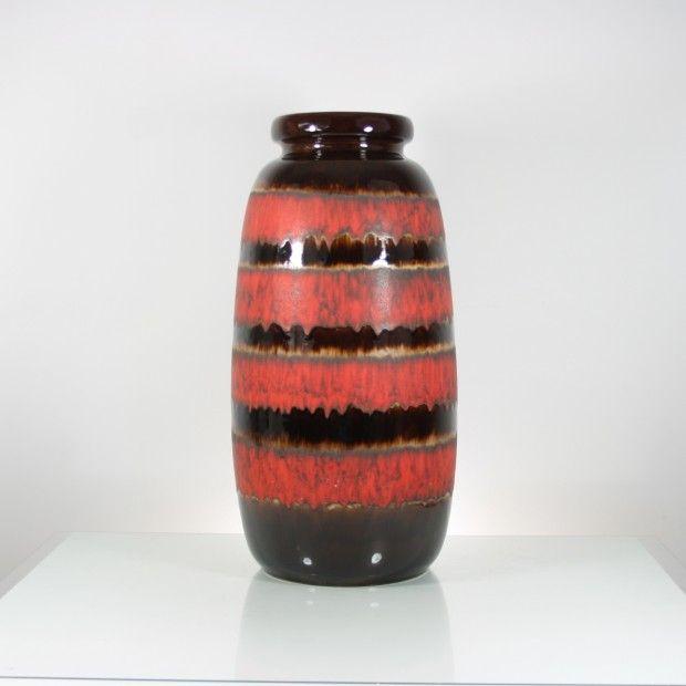 """209zl Największy dostępny podłogowy wazon """"Fat Lava"""" Scheurich  WYSOKOŚĆ: 53cm ŚREDNICA: 26cm  Model formy nr. 284-53  Stan idealny. Brak pęknięć ."""