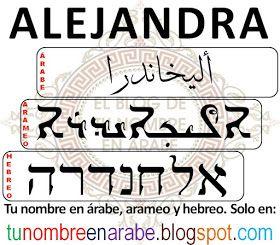 Como se escribe Alejandra en hebreo