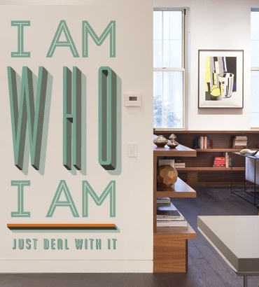 Streetwallz - I Am Who I Am Wall Decal, $110.00 (http://www.streetwallz.com/i-am-who-i-am-wall-decal/)