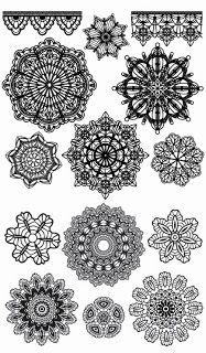 Shery K Designs: Free Digi Stamps | Lace