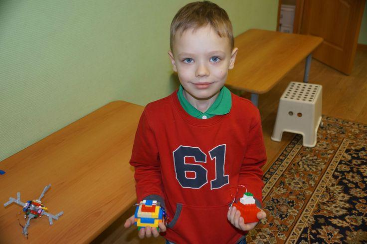 Новогодние Лего-шары для елки