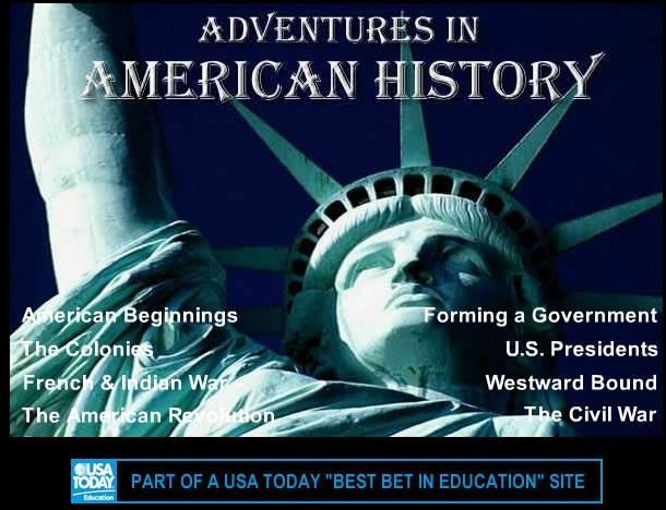 This site provides interactive online resources for American history including educational games, videos, simulated chats with historical characters, and an educational alternate reality game.