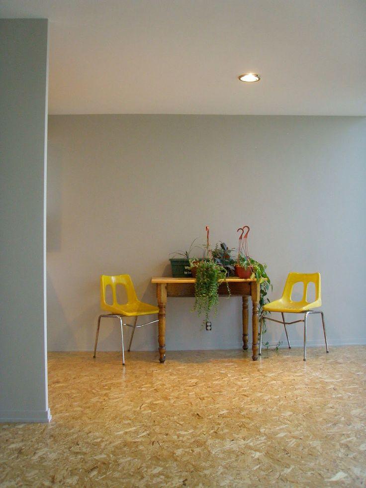 kleur muur en Osb flooring