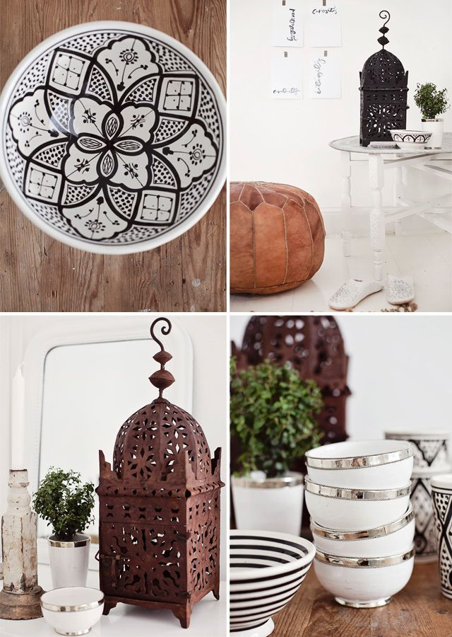 *♥* Moroccan ceramics and lamps at home
