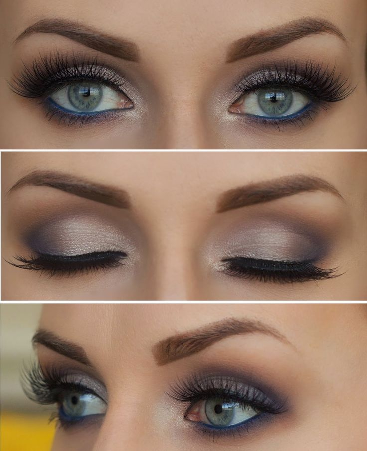 Navy + Violet , Liner and Lashes makeup