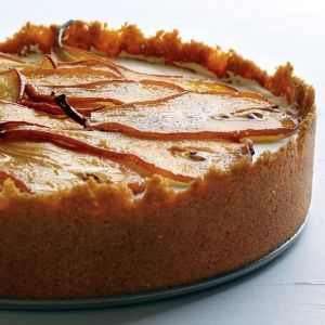 Maple Cheesecake with Roasted Pears  Fall Desserts - Autumn Dessert