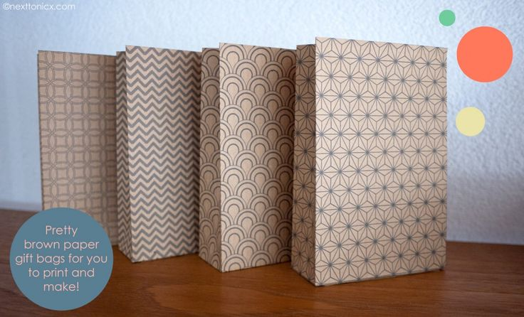 Personalizable Pretty patterned paper bags! | next to nicx - these are great - small size see also: large size