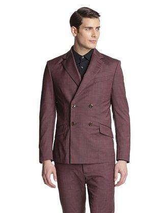 -24,900% OFF Vivienne Westwood Men's Double-Breasted Blazer (Bordeaux)