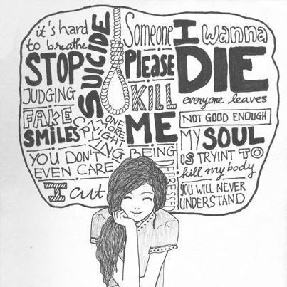 Resultado de imagen para depresión dibujos tumblr