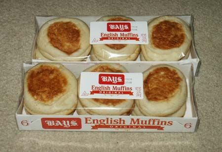 Bays English Muffins Light & Crispy after you toast them in the Toaster! Way better than Thomas with more nooks & crannies!.....image from ferndave