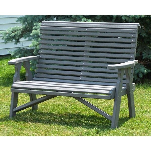amish poly wood 4 rollback loveseat 478 liked on polyvore featuring home outdoor furniturewooden