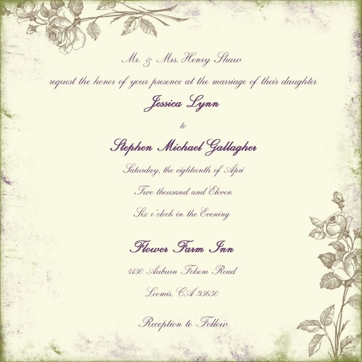 17 Best Ideas About Wedding Invitation Wording Samples On