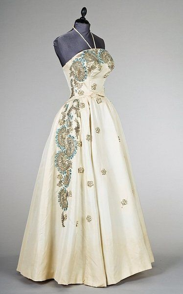 Balmain ball gown, 1953.