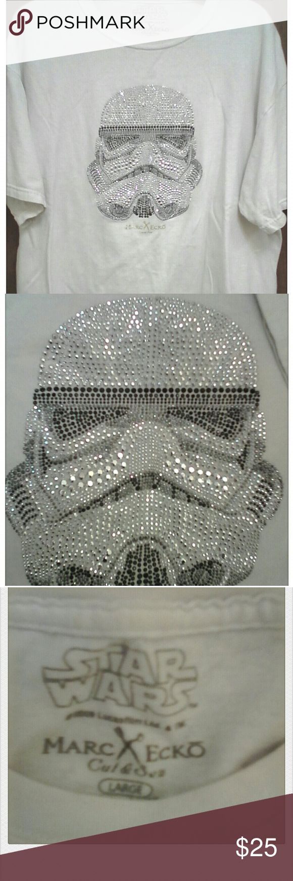 """Marc Ecko """"Star Wars"""" Stormtrooper t-shirt Really shiny Stormtrooper made from silver and black metal studs-Always gets compliments!! Star Wars/Marc Ecko Shirts Tees - Short Sleeve"""