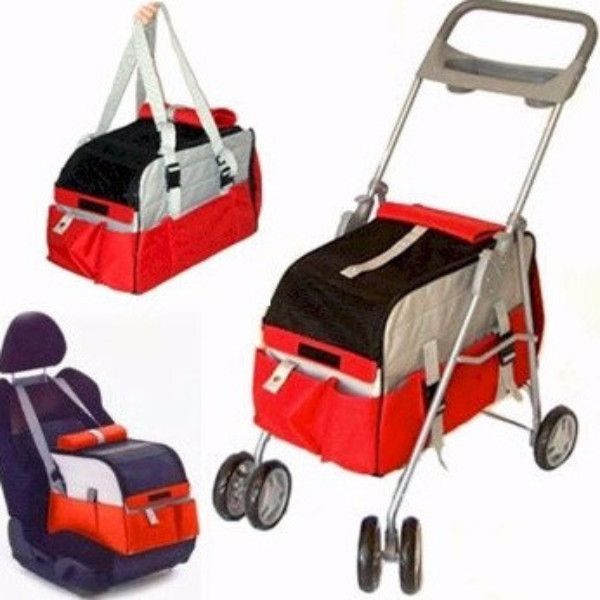Need a pet stroller? Or a Pet Carrier? Or a Pet Car Seat? How about all three in one? The 3 in 1 Pet Carrier is exactly that. It easily converts from a stroller, to a car seat to a carrier in minutes