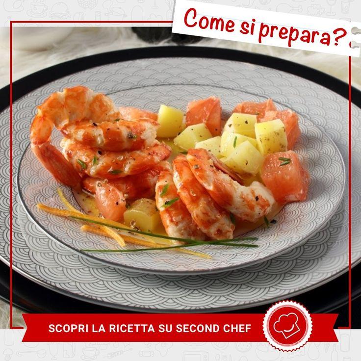 Sotto le feste il pesce non può mai mancare! Prova i Gamberi con patate rosse di #Second_Chef. INGREDIENTI: -Pompelmo rosa -Erba cipollina -Patate rosse sfuse -Gamberoni  Scopri l'intera #ricetta su http://rebrand.ly/gambericonpatate  #incucinaconsecondchef #lericettedisecondchef #ricette #eat #food