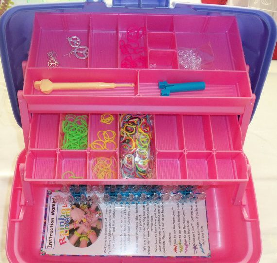 Rainbow Loom Organizer Box * LIMITED TIME Offer! Holds Loom & Accessories * Personalized Free with Name / Design