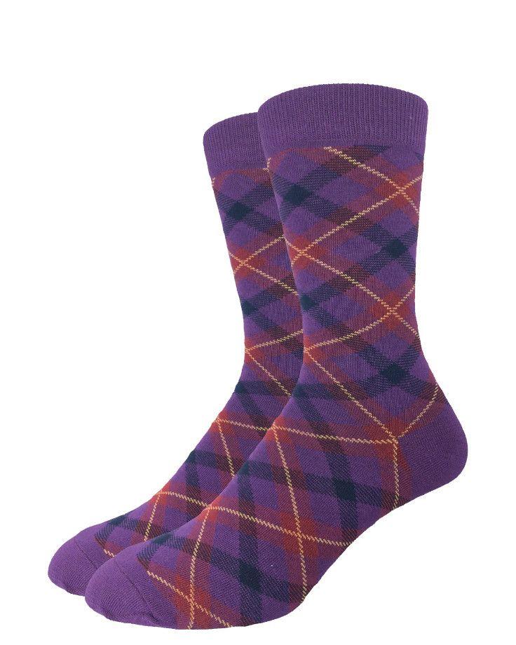Purple Plaid | Good Luck Sock | goodlucksock.com #socks