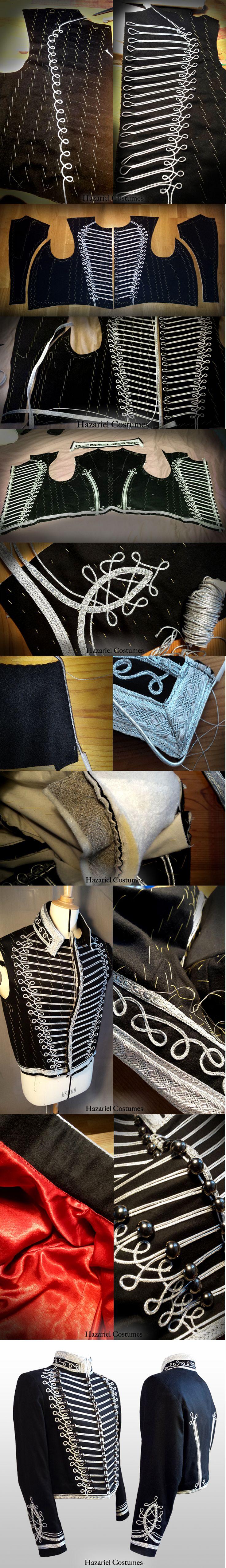 Hussar hussard jacket sewing steps