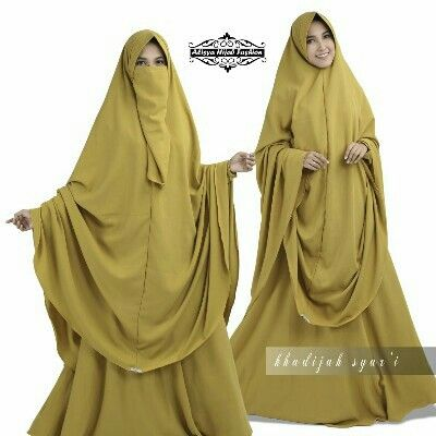 KHADIJAH SYAR'I BY ALISYA HIJAB FASHION  Bahan dress rosemary crepe, ukuran allsize fit to xl Ld 105 panjang 142 , resleting depan, karet belakang,  Khimar (jumbo ) bahan rosemary crepe ukuran khimar 143/143 (free cadar)  Ada 2 pilihan warna : kuning dan  dongker  Retail 355.000 Reseller 340.000  Line @kni7746k  Wa 62896 7813 6777   #gamissyarIpremiummurah