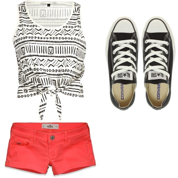 Converse Summer Outfit\ All I need is that shirt, I've got the shoes and the shorts