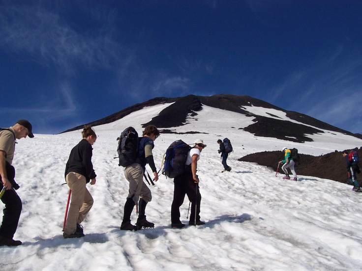 Villarica Volcano, Pucón, Chile http://www.vivaexpeditions.com/south-america-tours/chile-travel/lakes-district-discovery-santiago-to-bariloche