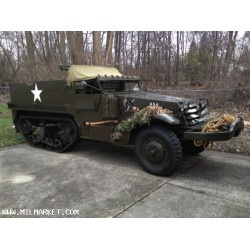 This 1943 White Halftrack is an M-16 model and is the nicest running and driving Halftrack I have seen. The engine was a total rebuild along with the drivetrain. The underside is painted as nice as the rest of the vehicle. All new track and correct armor for this very nice vehicle, Look over the photos, you will not find a nicer halftrack. Comes with the 50ca. propane gun and canvas you see in the photos.