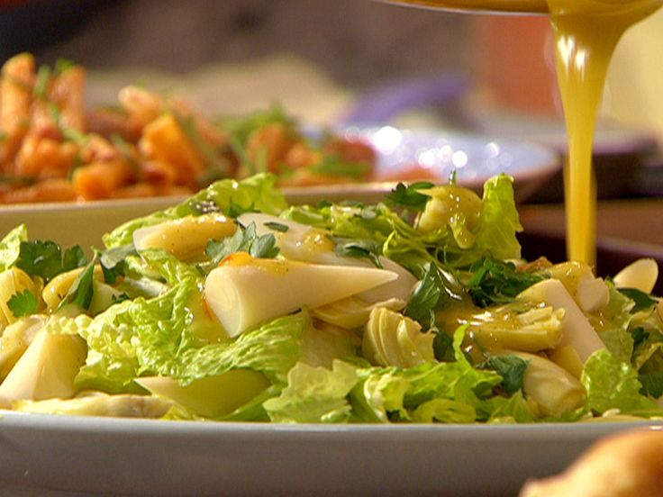 Hearts of Romaine, Palm and Artichoke with Citrus Dijon Dressing recipe from Rachael Ray via Food Network