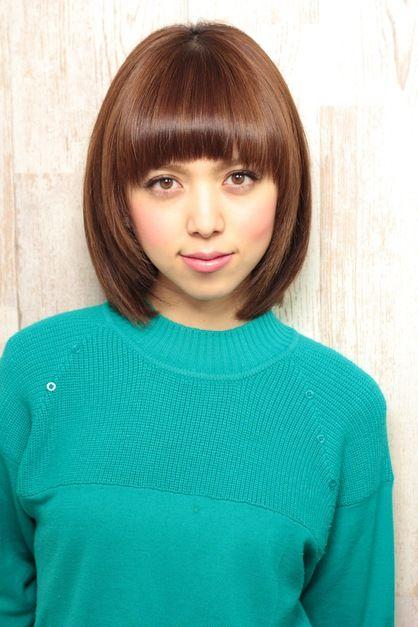 AFLOAT SKYのヘアスタイル | つやつやナチュラルボブ☆ | 東京都・青山・表参道の美容室 | Rasysa(らしさ)