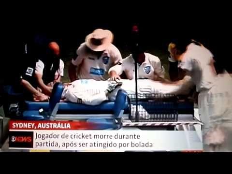 Jogador de críquete morre após ser atingido por bola do jogo.