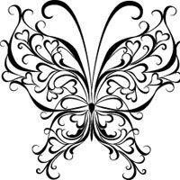Printable Geometric Butterflies Coloring Pages   Thumbnail image for Heart Butterfly