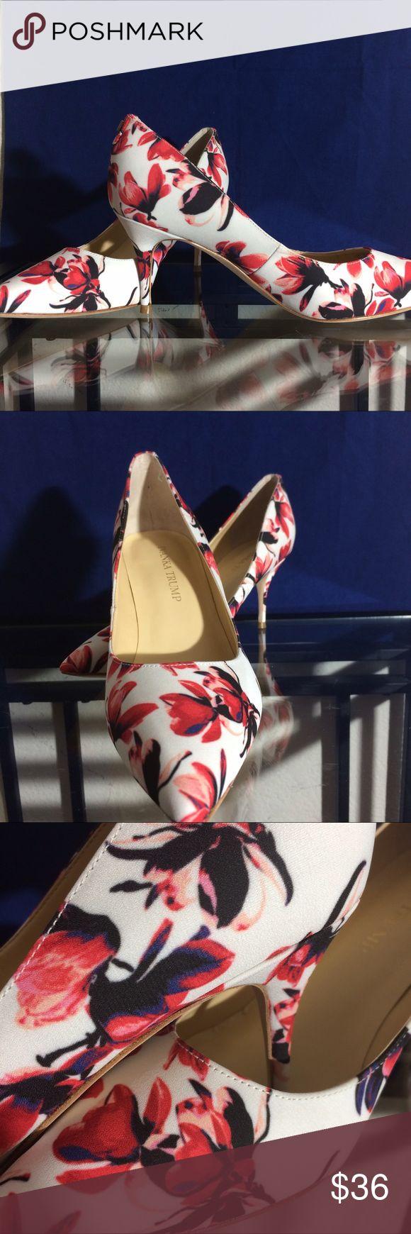 Ivanka Trump Floral Heels Please see photos Ivanka Trump Shoes Heels