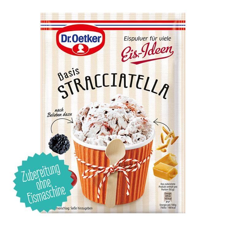 Eispulver für viele Eis-Ideen, in den drei beliebten Eis-Sorten Bourbon-Vanille, Schokolade und Stracciatella! Das Besondere am Eispulver: Sie können Ihrer Kreativität freien Lauf lassen und Früchte, Nüsse, Cookies etc. nach eigenem Geschmack dazugeben.