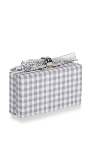Wolf Gingham Clutch by Edie Parker