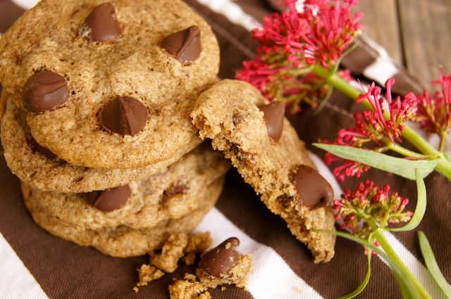 ... Free Buckwheat Chocolate Chip Cookeis #glutenfree #bakedgoods #cookies