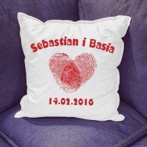 Poduszka z nadrukiem na Walentynki - Trafiony prezent