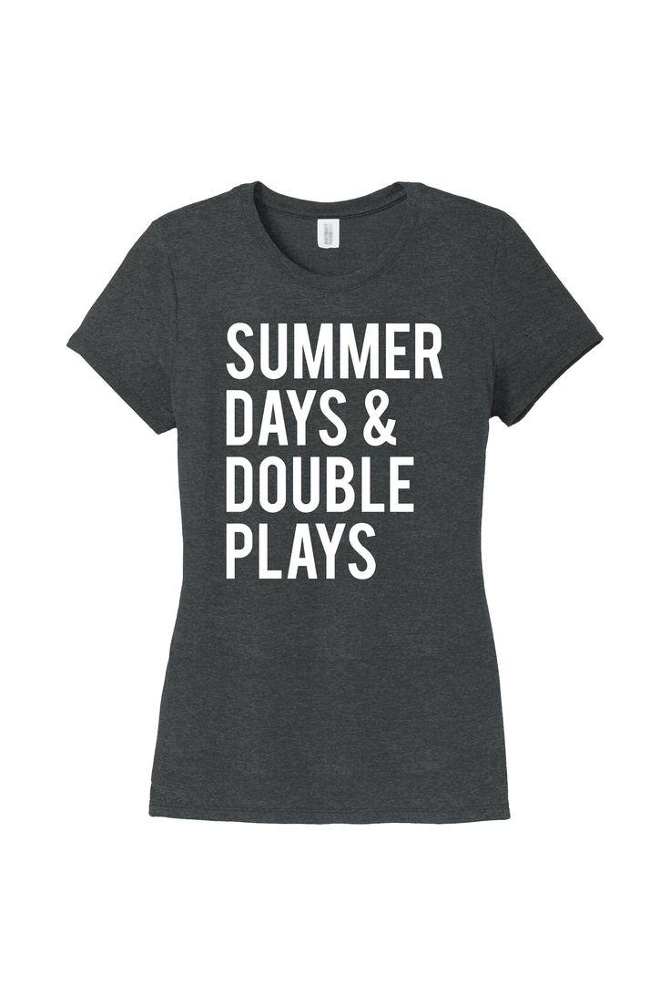 Baseball Mom Shirt, Summer Days and Double Plays, I Only Raise Ballers Shirt, Baseball Shirt, Softball Shirt, Baller T-Shirt, Softball Mom, by StateLineGraphics on Etsy #BaseballBoys