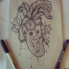 circus elephant tattoo - Google Search