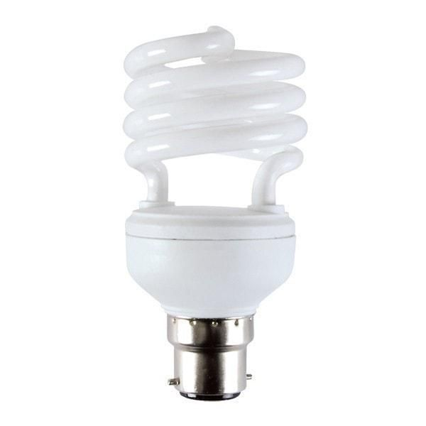10 Watt Dc 12v Cfl Bc Bayonet Light Bulb Cool Or Warm White B22 Compact Fluorescent Lamp Lowvolta Low Energy Light Bulbs Light Bulb Compact Fluorescent Lamps
