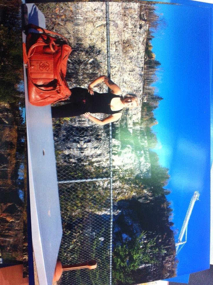 Pre bungee jump ! Wakefield!