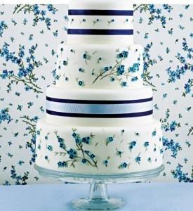 Bolo de Casamento - Azul
